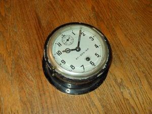 WW2 Imperial Japanese Navy Seikosha Midget Submarine Bulkhead Clock