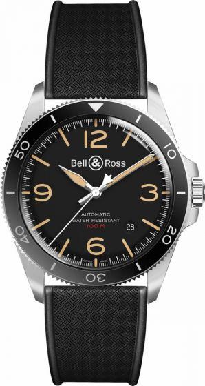 Bell & Ross BR V2-92 Steel Heritage on Strap