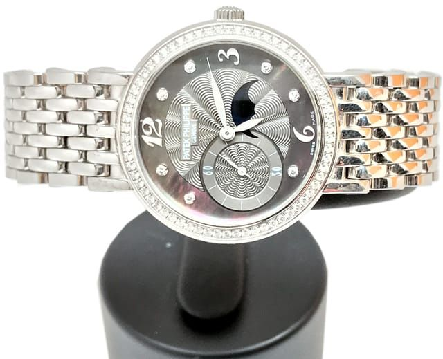 ce04d455d84b Patek Philippe Ladies 4958 G Moonphase 18k White Gold - Exquisite ...