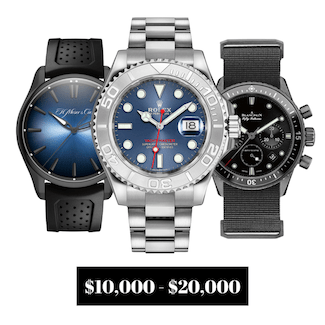 Pre-owned Watches $10,000.00 to $20,000.00