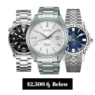 Pre-owned Watches $2,500.00 and Below