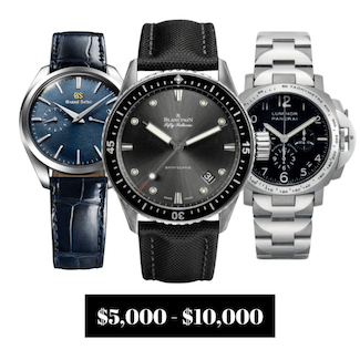 Pre-owned Watches $5,000.00 to $10,000.00