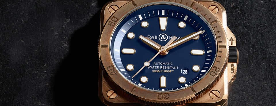 Bell & Ross Diver Bronze Blue
