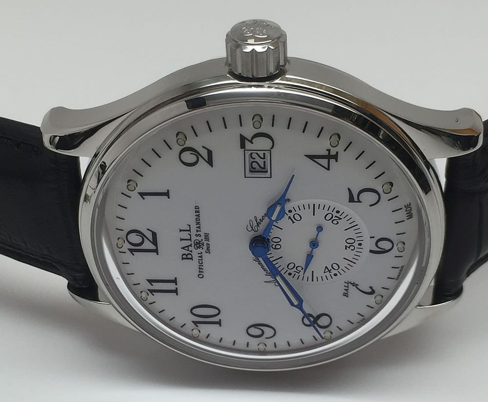 Ball Trainmaster Standard Time Chronometer NM3888D-LL1CJ-WH caliber