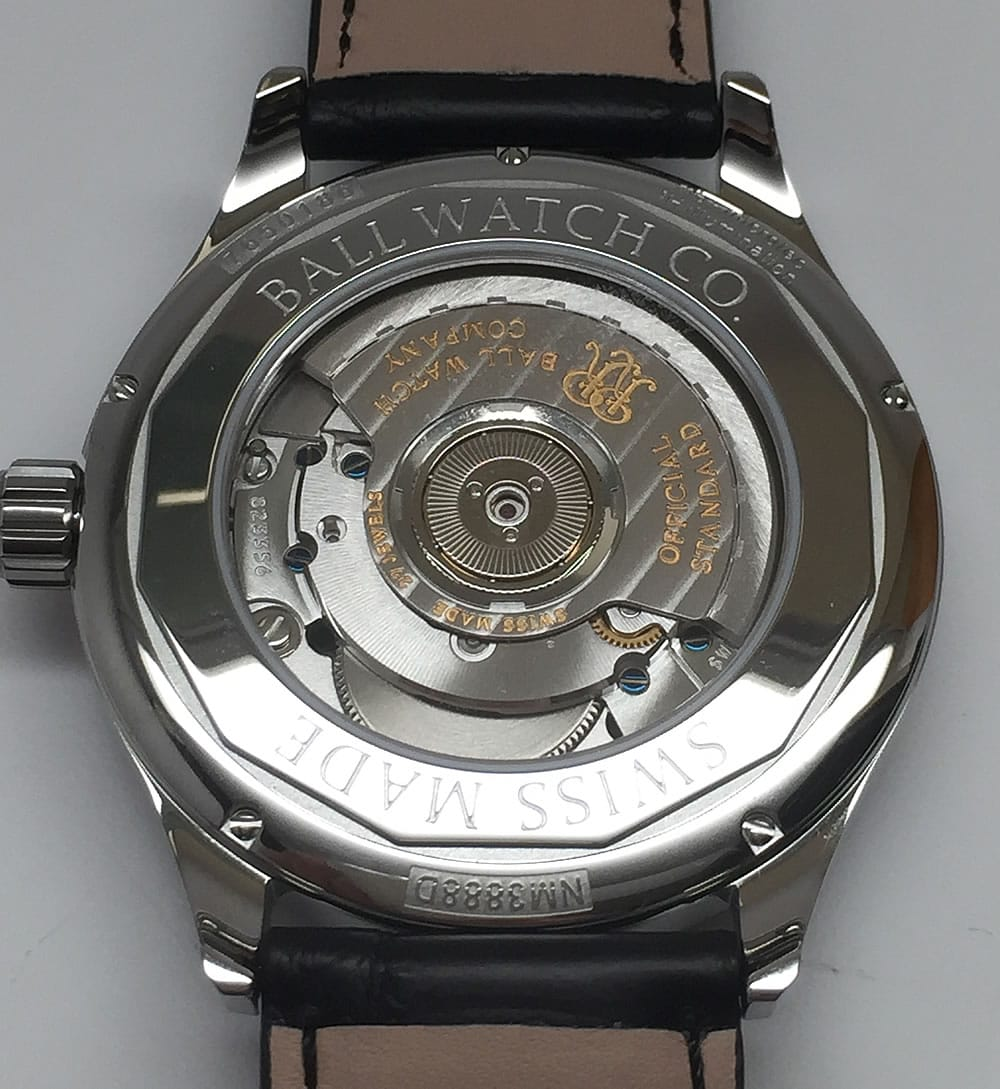 Ball Trainmaster Standard Time Chronometer NM3888D-LL1CJ-WH back