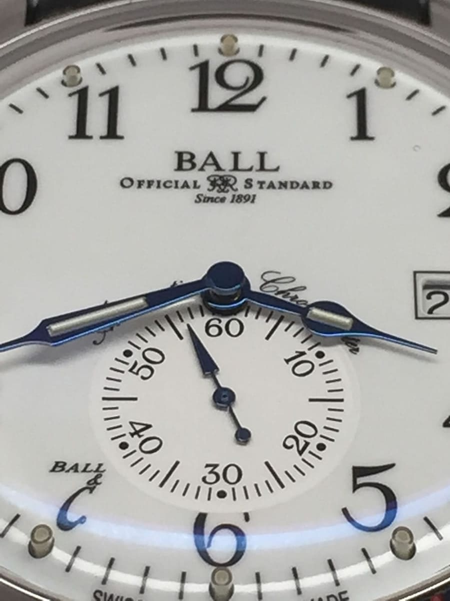Ball Trainmaster Standard Time Chronometer NM3888D-LL1CJ-WH close up